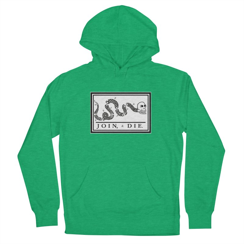 Join & Die Women's French Terry Pullover Hoody by Skeleton Krewe's Shop