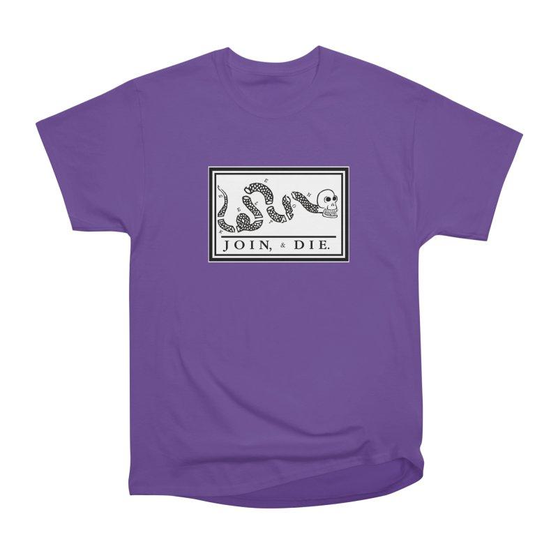 Join & Die Women's Heavyweight Unisex T-Shirt by Skeleton Krewe's Shop
