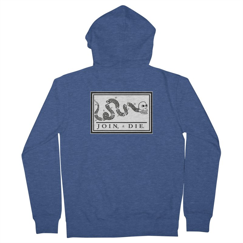 Join & Die Women's French Terry Zip-Up Hoody by Skeleton Krewe's Shop