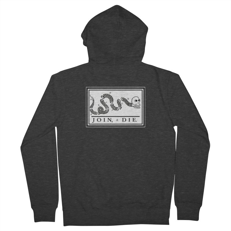 Join & Die Men's French Terry Zip-Up Hoody by Skeleton Krewe's Shop