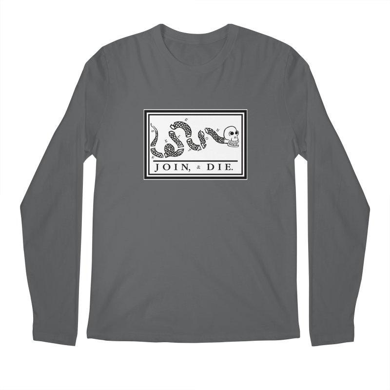 Join & Die Men's Regular Longsleeve T-Shirt by Skeleton Krewe's Shop