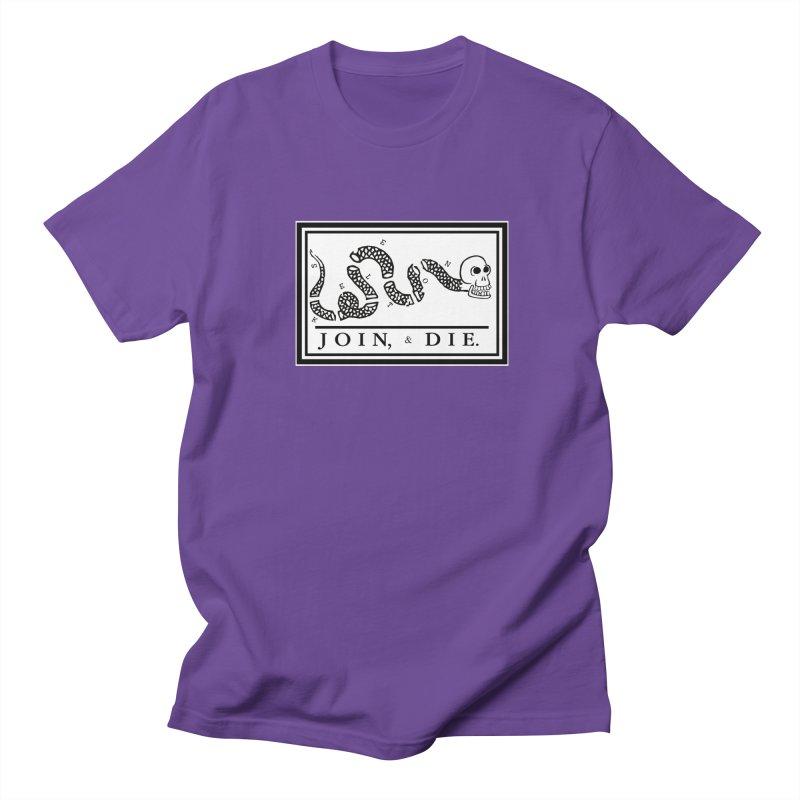 Join & Die Men's Regular T-Shirt by Skeleton Krewe's Shop