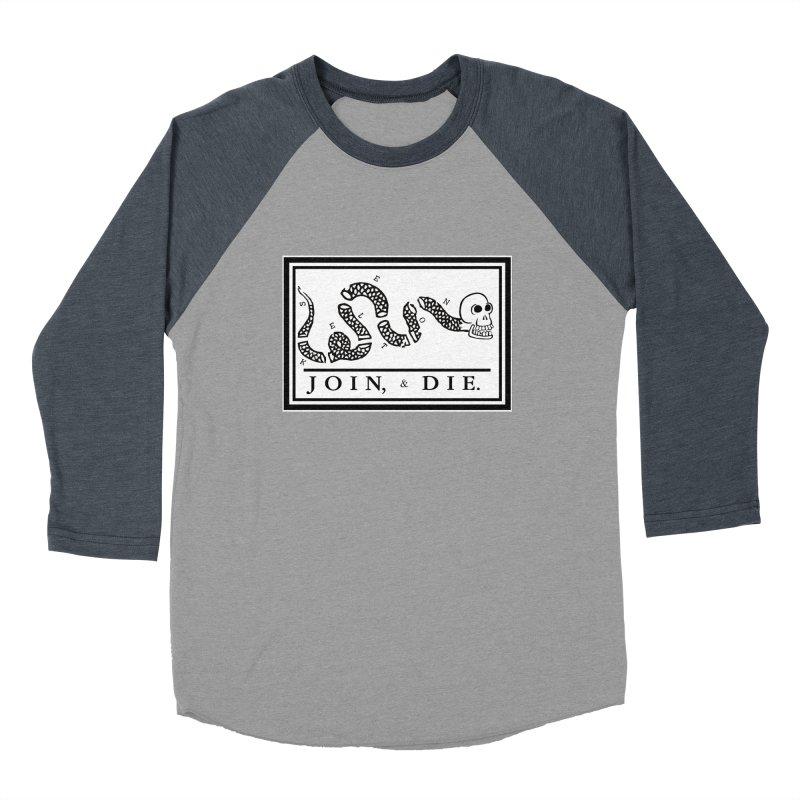 Join & Die Men's Baseball Triblend T-Shirt by Skeleton Krewe's Shop