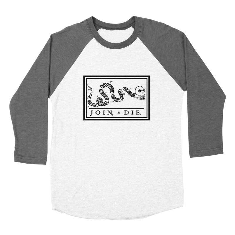 Join & Die Men's Baseball Triblend Longsleeve T-Shirt by Skeleton Krewe's Shop