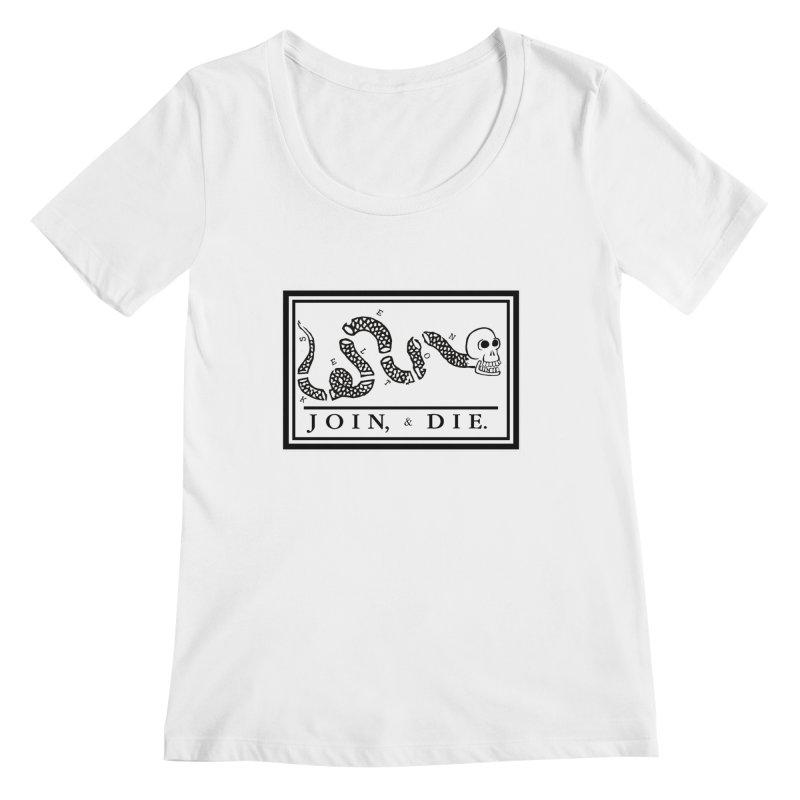 Join & Die Women's Regular Scoop Neck by Skeleton Krewe's Shop