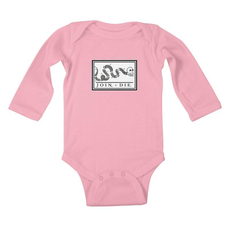 Join & Die Kids Baby Longsleeve Bodysuit by Skeleton Krewe's Shop