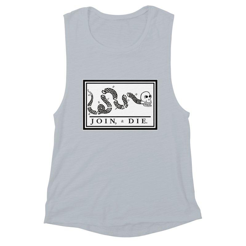 Join & Die Women's Muscle Tank by Skeleton Krewe's Shop