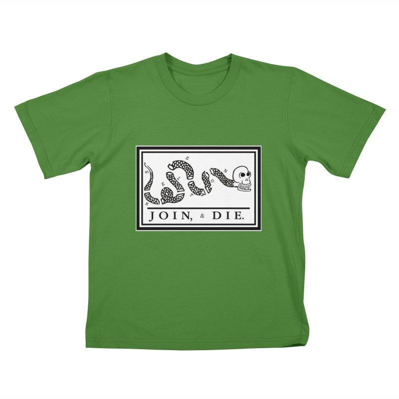 Join & Die Kids T-Shirt by Skeleton Krewe's Shop