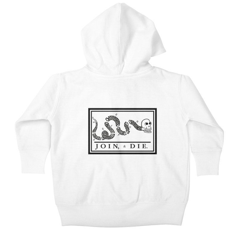 Join & Die Kids Baby Zip-Up Hoody by Skeleton Krewe's Shop