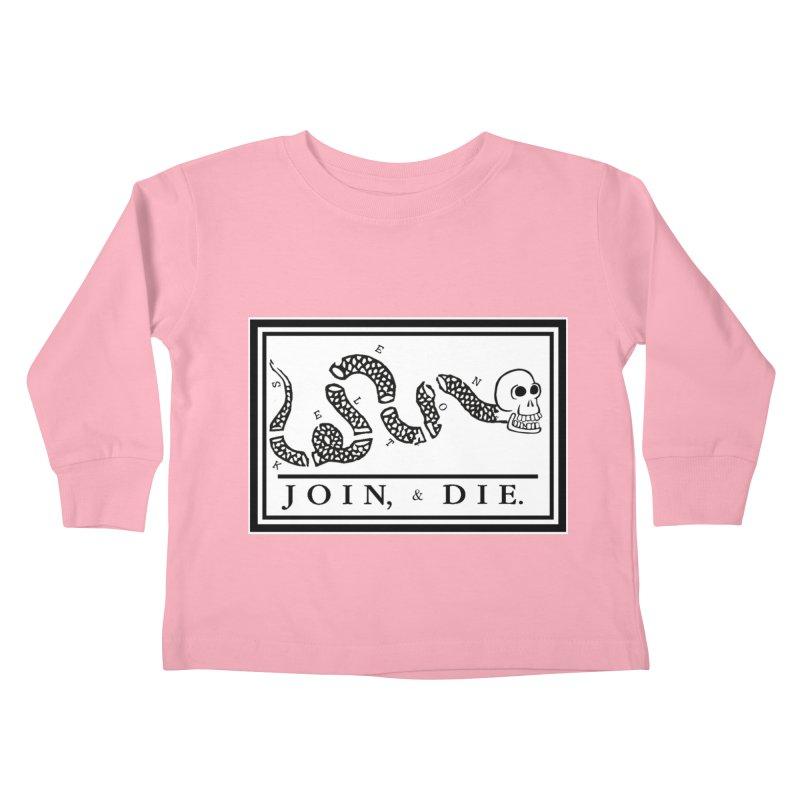 Join & Die Kids Toddler Longsleeve T-Shirt by Skeleton Krewe's Shop
