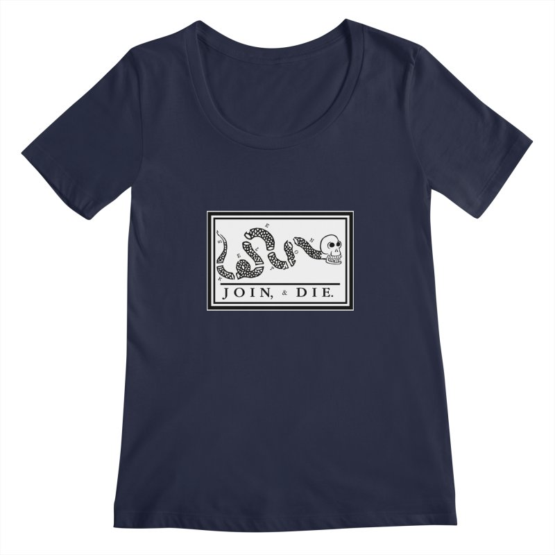 Join & Die Women's Scoopneck by Skeleton Krewe's Shop