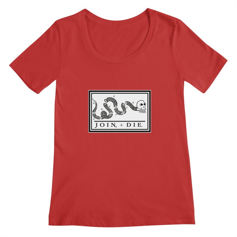 Join & Die Women's Regular Scoop Neck by Skeleton Krewe's Shop