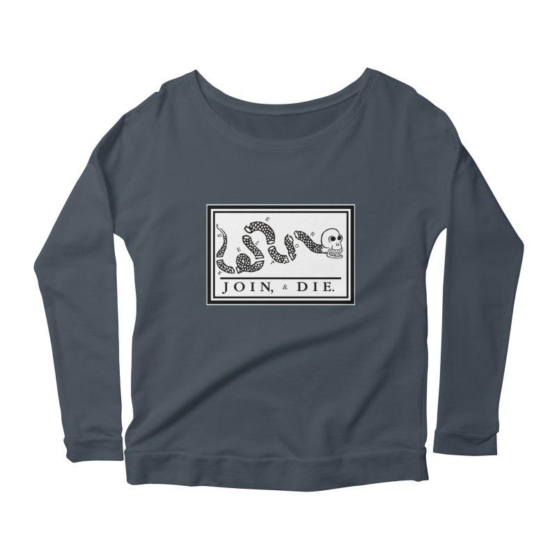 Join & Die Women's Scoop Neck Longsleeve T-Shirt by Skeleton Krewe's Shop