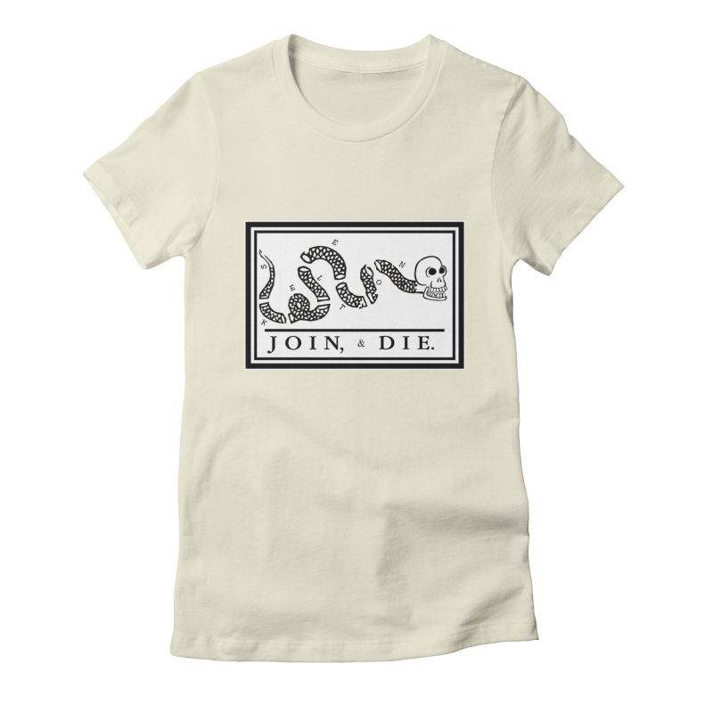 Join & Die Women's Fitted T-Shirt by Skeleton Krewe's Shop