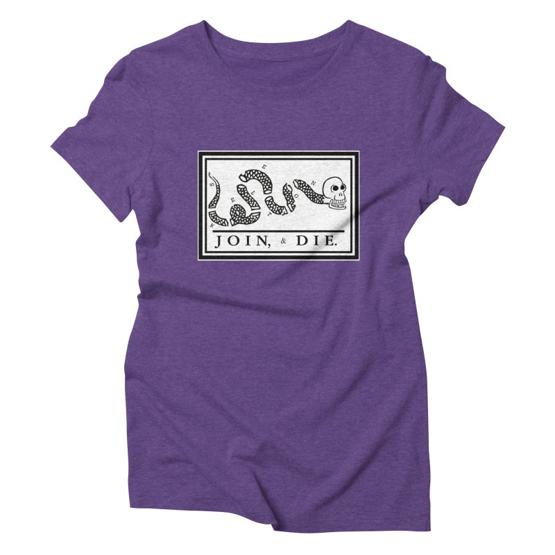 Join & Die Women's Triblend T-Shirt by Skeleton Krewe's Shop