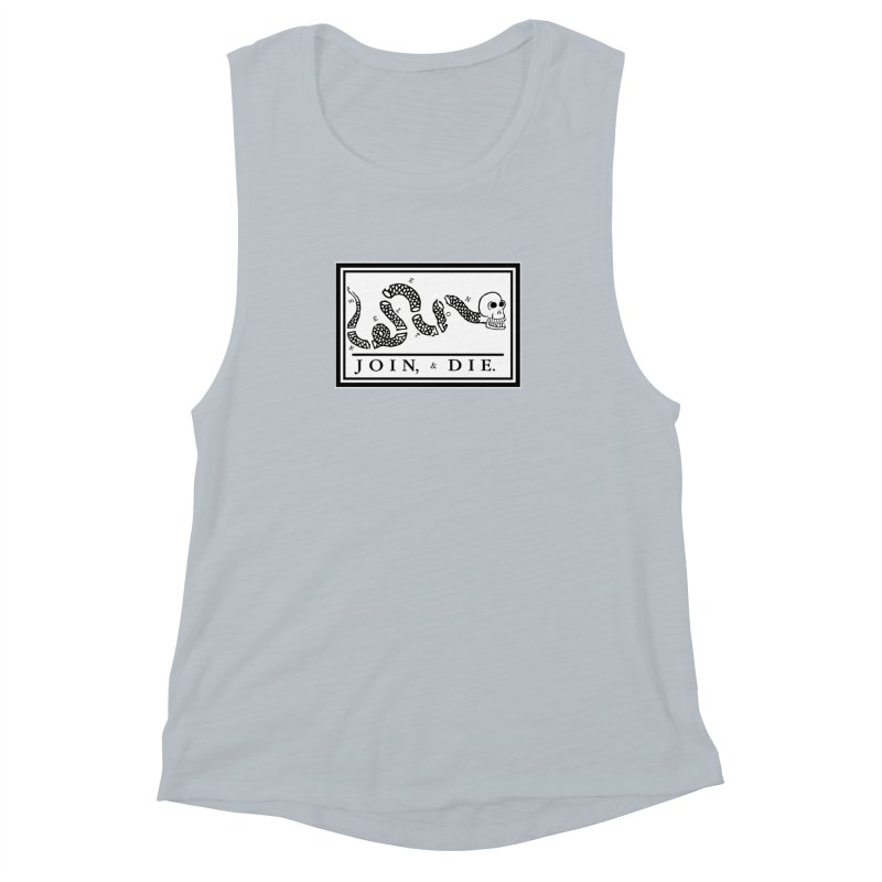 Join & Die Women's Muscle Tank by Skeleton Krewe's Shop