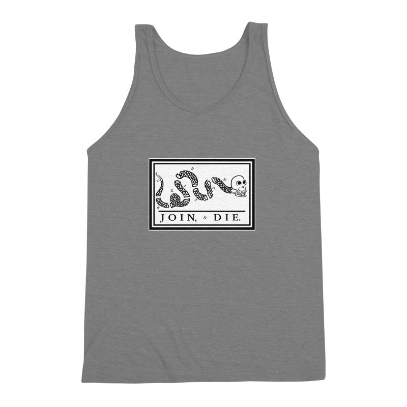 Join & Die Men's Triblend Tank by Skeleton Krewe's Shop
