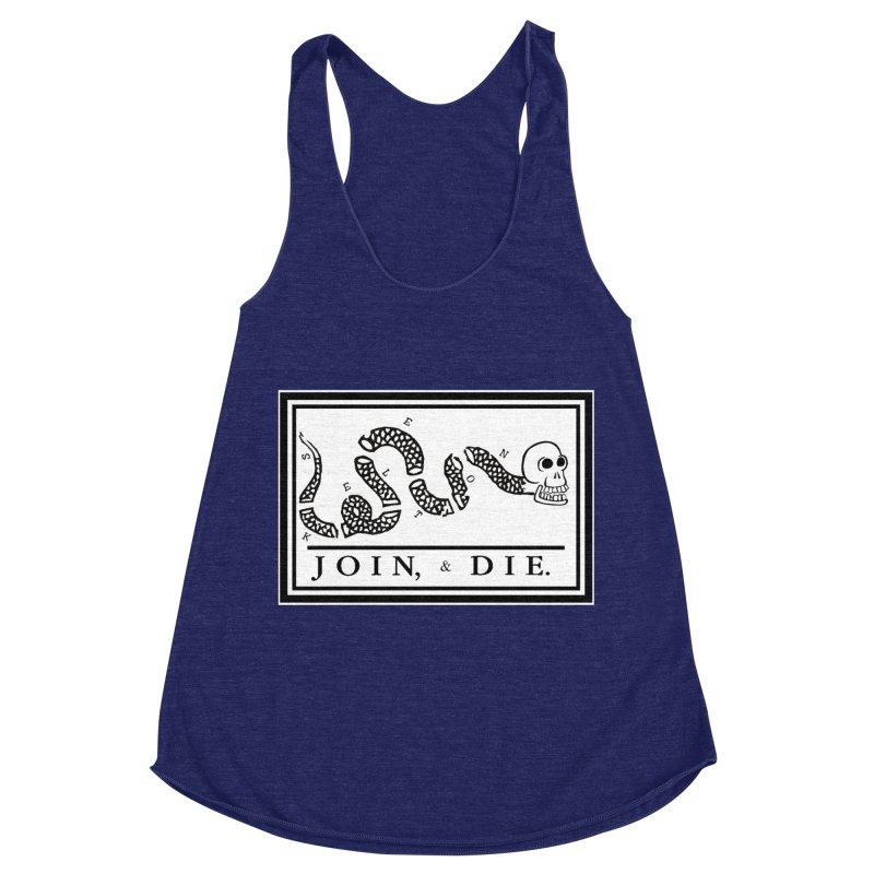 Join & Die Women's Racerback Triblend Tank by Skeleton Krewe's Shop
