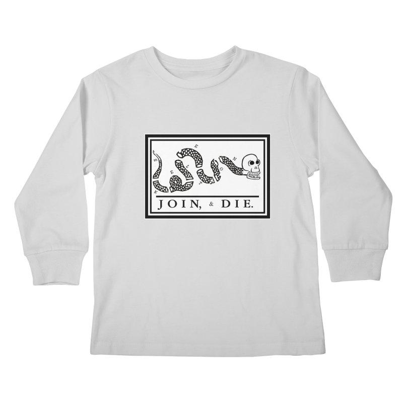 Join & Die Kids Longsleeve T-Shirt by Skeleton Krewe's Shop