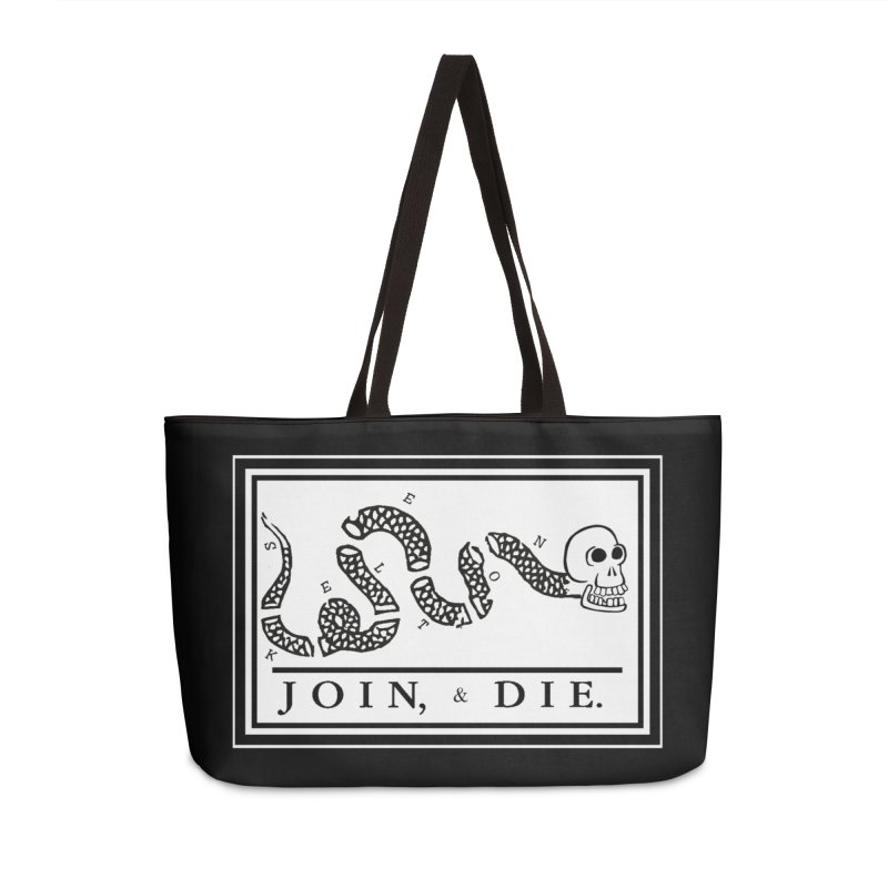 Join & Die Accessories Weekender Bag Bag by Skeleton Krewe's Shop