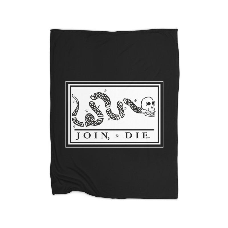 Join & Die Home Blanket by Skeleton Krewe's Shop