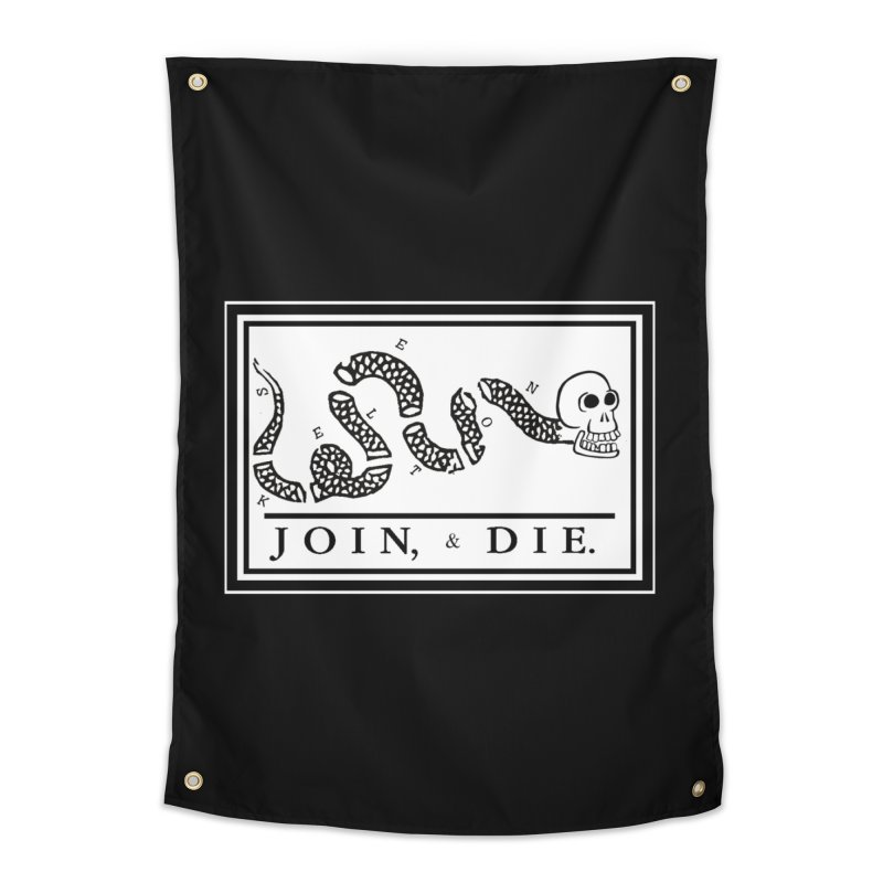 Join & Die Home Tapestry by Skeleton Krewe's Shop