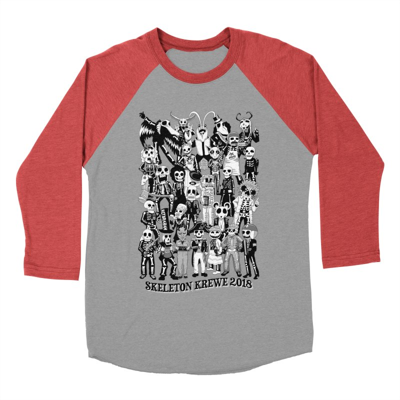 Skeleton Krewe 2018 Men's Baseball Triblend Longsleeve T-Shirt by Skeleton Krewe's Shop