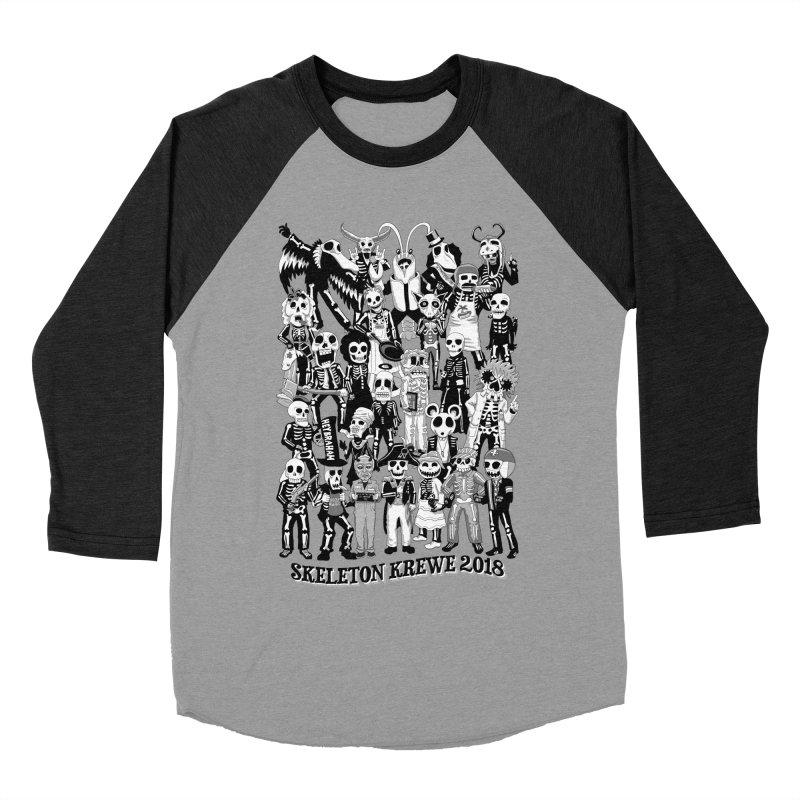 Skeleton Krewe 2018 Men's Baseball Triblend Longsleeve T-Shirt by Skeleton Krewe's Shop