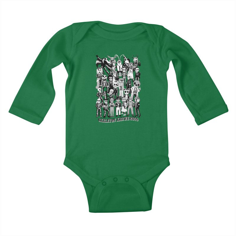 Skeleton Krewe 2018 Kids Baby Longsleeve Bodysuit by Skeleton Krewe's Shop