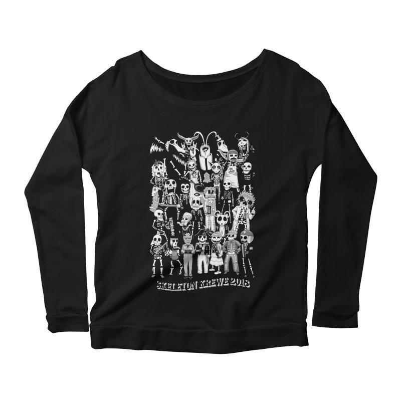 Skeleton Krewe 2018 Women's Scoop Neck Longsleeve T-Shirt by Skeleton Krewe's Shop