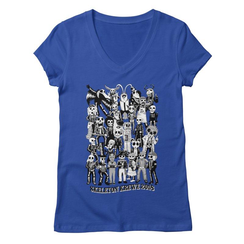 Skeleton Krewe 2018 Women's Regular V-Neck by Skeleton Krewe's Shop