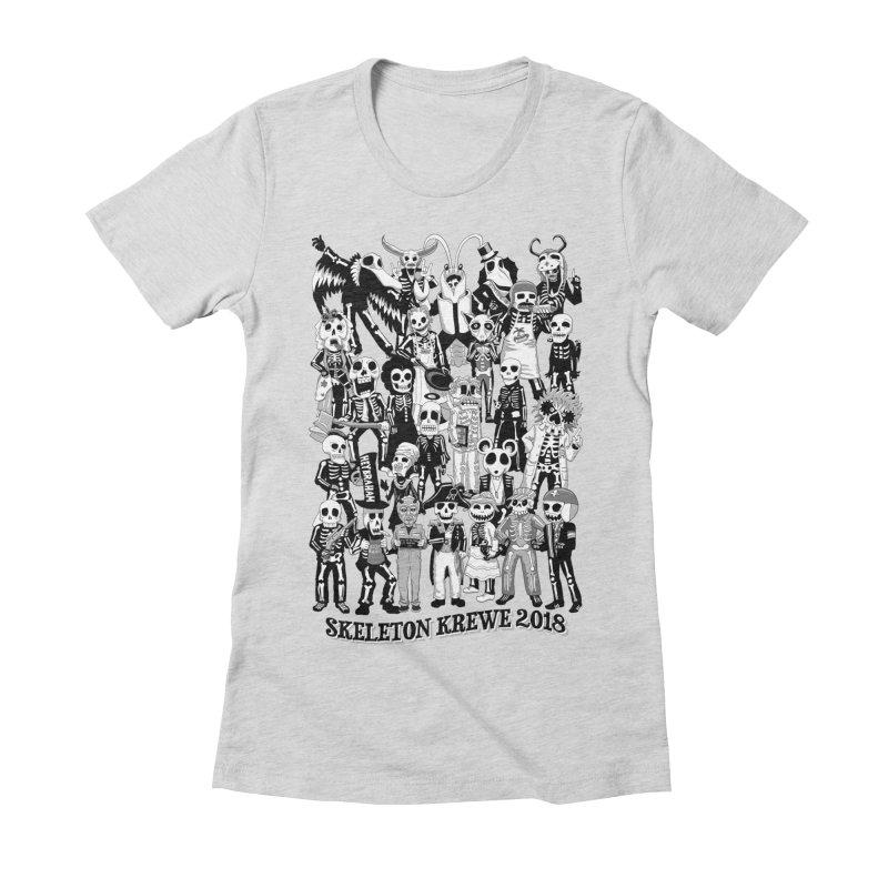 Skeleton Krewe 2018 Women's Fitted T-Shirt by Skeleton Krewe's Shop