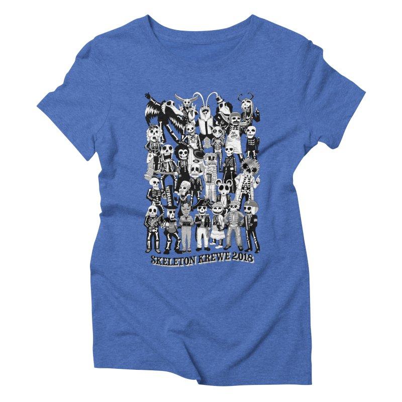 Skeleton Krewe 2018 Women's Triblend T-Shirt by Skeleton Krewe's Shop