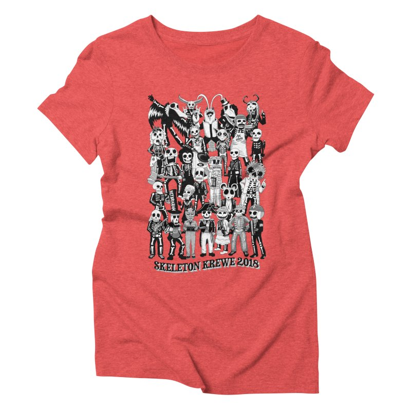 Skeleton Krewe 2018 Women's Triblend T-Shirt by Skeleton Krewe's Shop