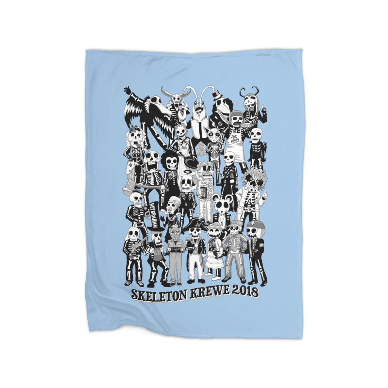 Skeleton Krewe 2018 Home Fleece Blanket Blanket by Skeleton Krewe's Shop