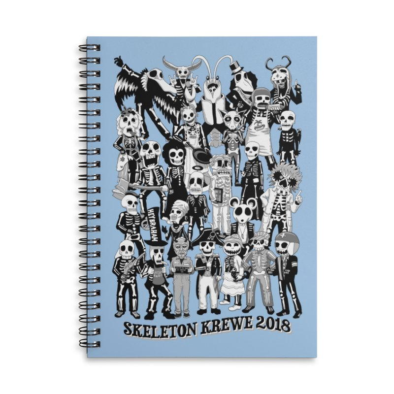 Skeleton Krewe 2018 Accessories Lined Spiral Notebook by Skeleton Krewe's Shop