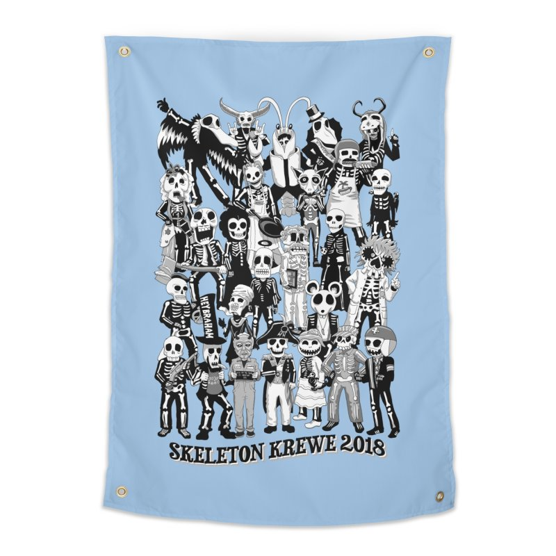 Skeleton Krewe 2018 Home Tapestry by Skeleton Krewe's Shop