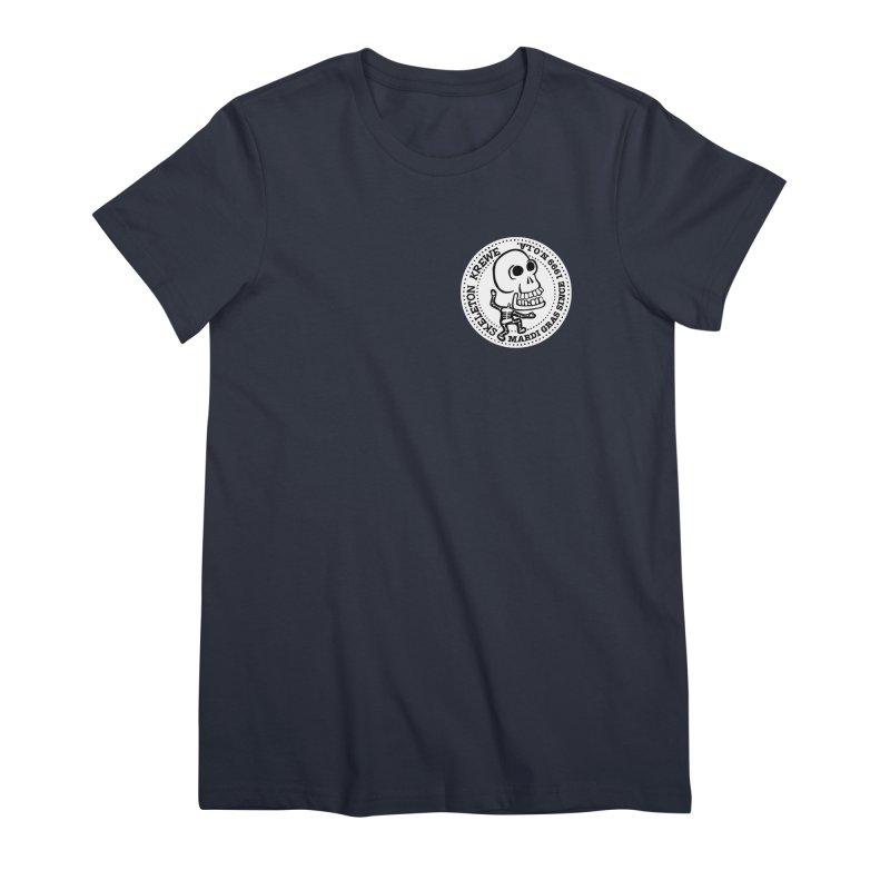 Skeleton Krewe Small Logo Women's Premium T-Shirt by Skeleton Krewe's Shop
