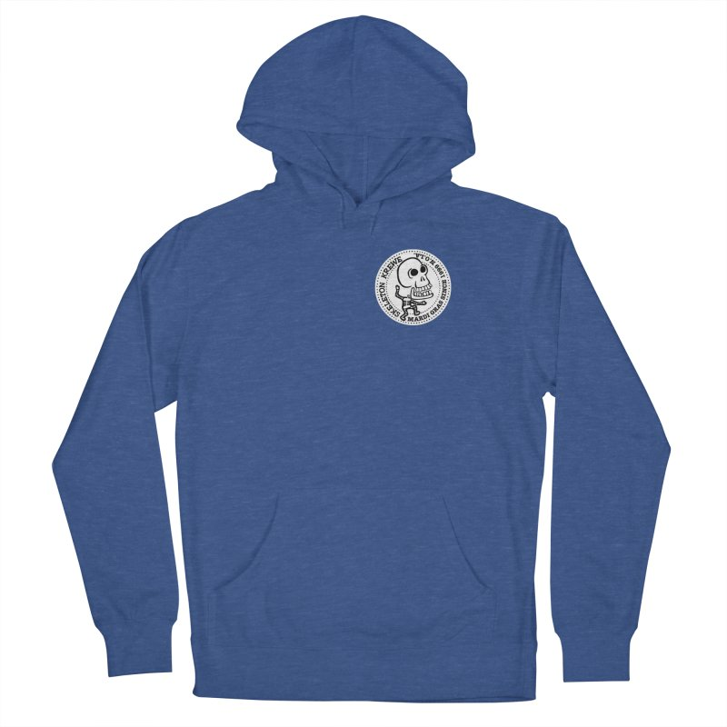 Skeleton Krewe Small Logo Men's French Terry Pullover Hoody by Skeleton Krewe's Shop