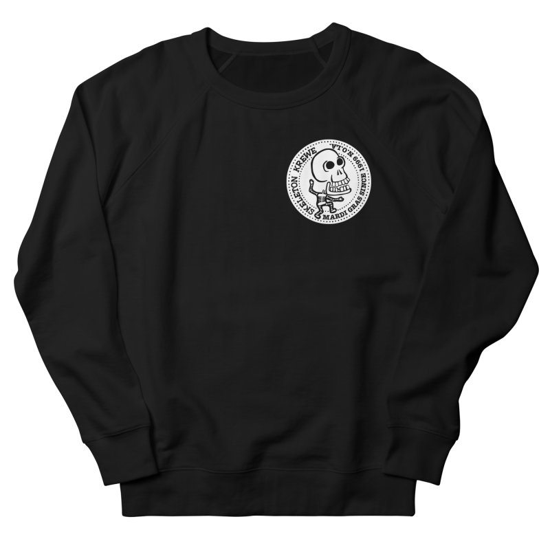 Skeleton Krewe Small Logo Women's French Terry Sweatshirt by Skeleton Krewe's Shop
