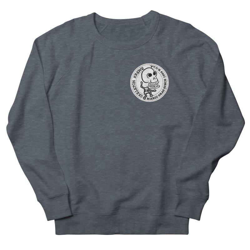 Skeleton Krewe Small Logo Men's French Terry Sweatshirt by Skeleton Krewe's Shop