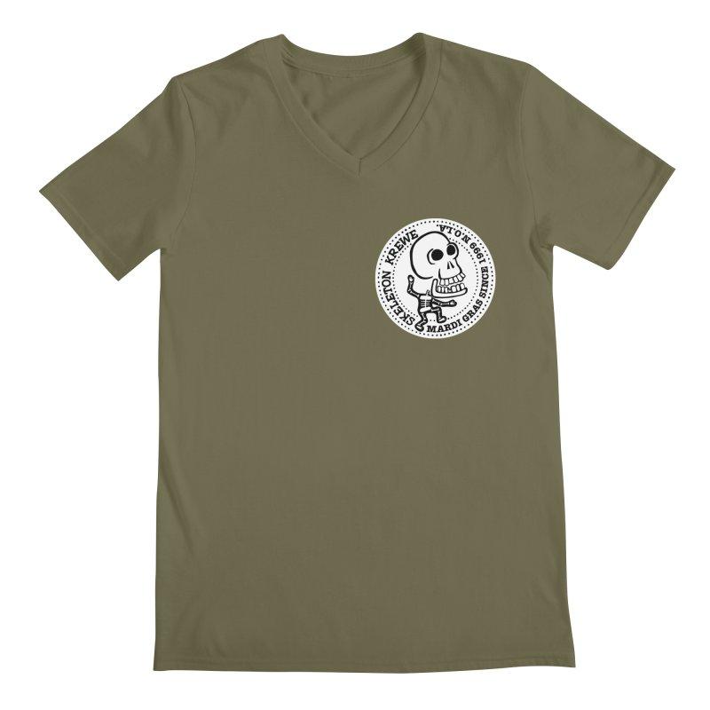 Skeleton Krewe Small Logo Men's V-Neck by Skeleton Krewe's Shop