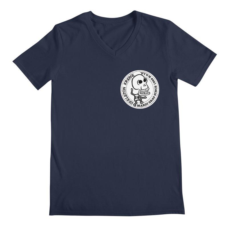 Skeleton Krewe Small Logo Men's Regular V-Neck by Skeleton Krewe's Shop