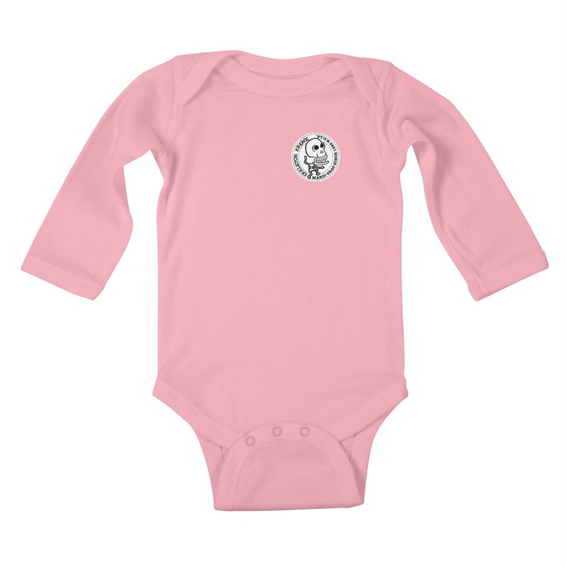 Skeleton Krewe Small Logo Kids Baby Longsleeve Bodysuit by Skeleton Krewe's Shop