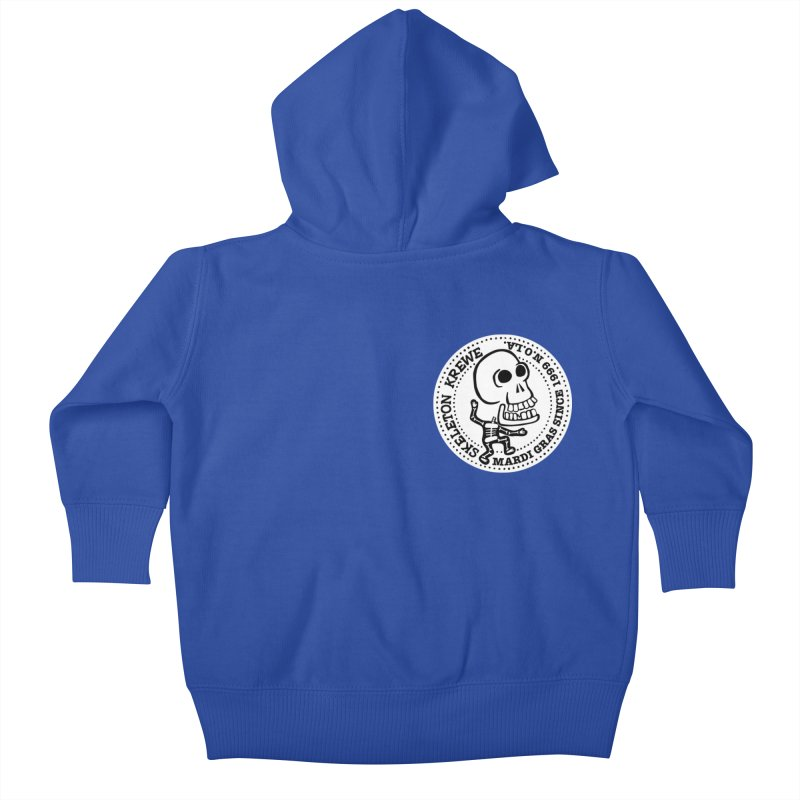 Skeleton Krewe Small Logo Kids Baby Zip-Up Hoody by Skeleton Krewe's Shop