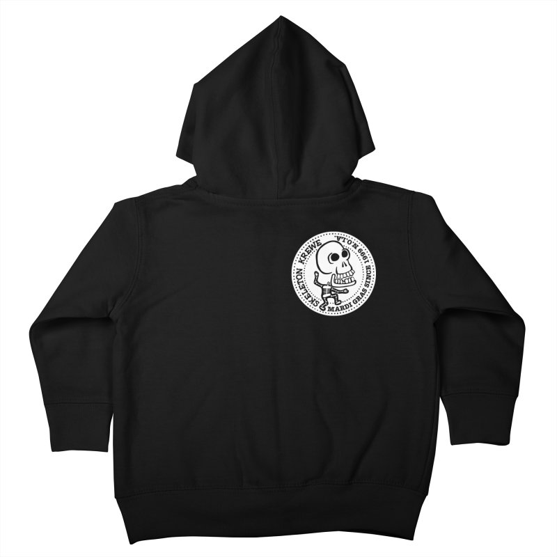 Skeleton Krewe Small Logo Kids Toddler Zip-Up Hoody by Skeleton Krewe's Shop