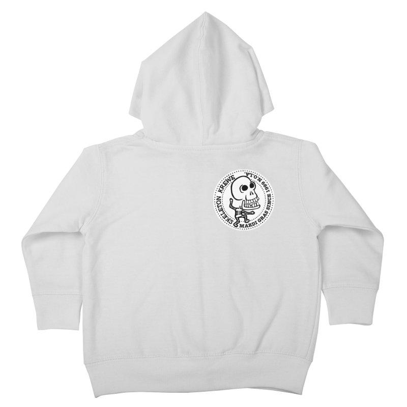 Skeleton Krewe Small Logo Kids Toddler Zip-Up Hoody by Skeleton Krewe's Shop