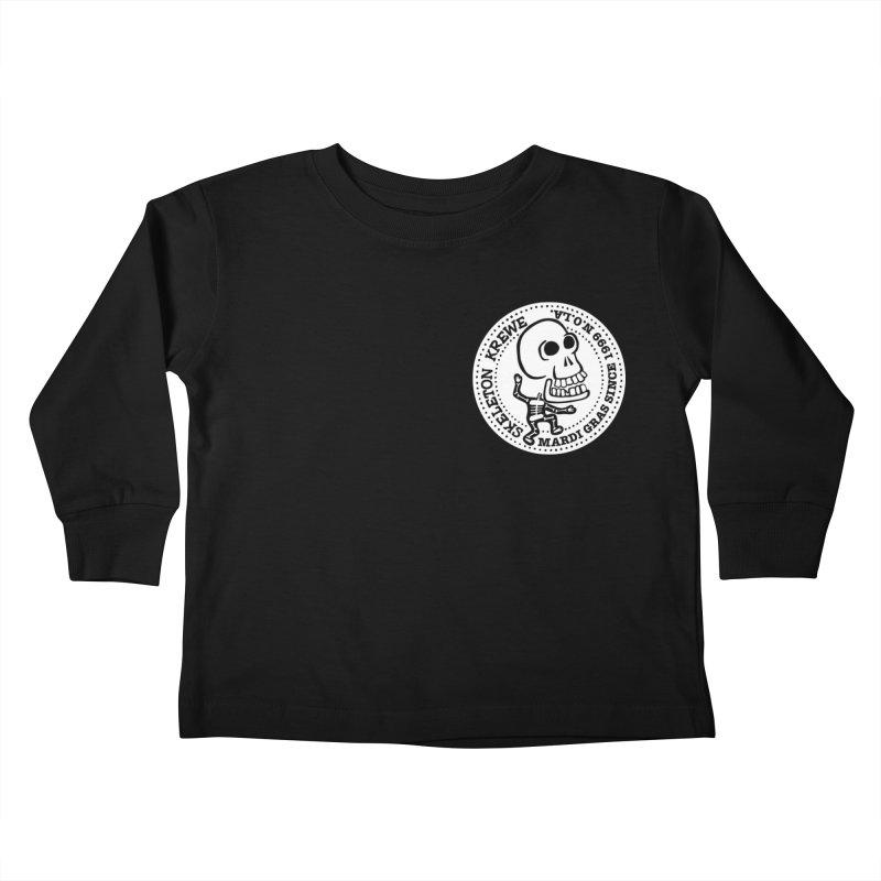 Skeleton Krewe Small Logo Kids Toddler Longsleeve T-Shirt by Skeleton Krewe's Shop