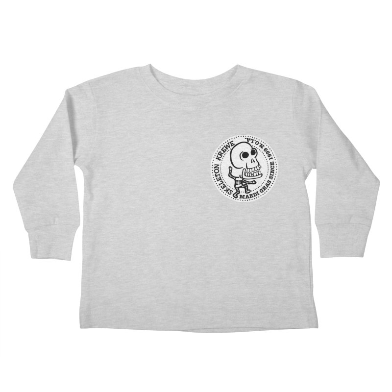Skeleton Krewe Small Logo Kids Toddler Longsleeve T-Shirt by Skeleton Krewe's Shop