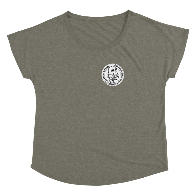 Skeleton Krewe Small Logo Women's Dolman Scoop Neck by Skeleton Krewe's Shop